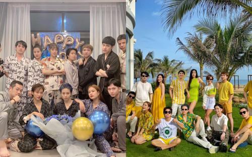 Dự sinh nhật Gil Lê: Đông Nhi diện pijama che bụng bầu, Mai Phương Thúy to đô nhất đội