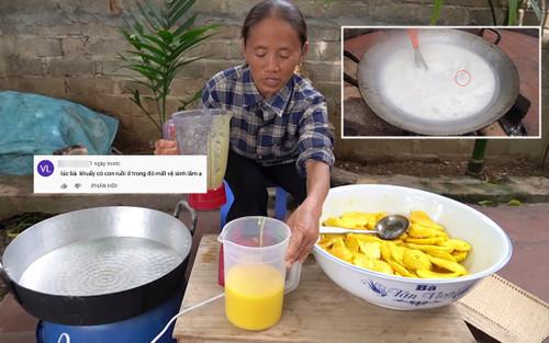 Nghi vấn ruồi xuất hiện trong nồi thạch bà Tân làm ở vlog mới khiến cư dân mạng xôn xao