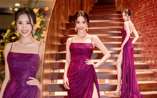 Á hậu Thúy An xinh đẹp cuốn hút làm giám khảo tìm ứng viên thi Hoa hậu Việt Nam 2020