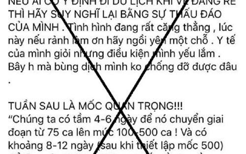 Đăng tải thông tin sai sự thật liên quan đến dịch COVID-19, một Facebooker ở Huế bị xử phạt