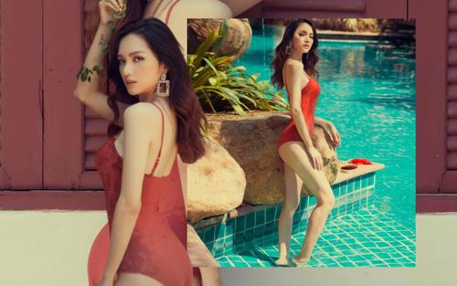 Hương Giang thả dáng cực đỉnh trong bộ ảnh mới: Bodysuit đỏ rực đi với giày thể thao
