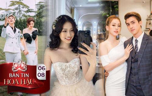 Phương Nga diện váy cưới xinh hết nấc, fan thi nhau chúc mừng chờ đón đám cưới cùng Bình An