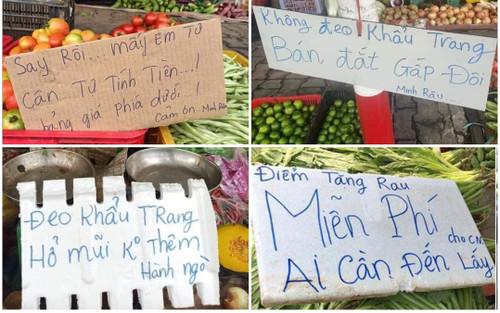 Anh bán rau đỉnh nhất mùa 'Cô Vy': 'Không đeo khẩu trang, bán giá gấp đôi'