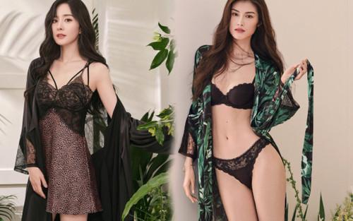 Chưa bao giờ quyến rũ đến thế, Dương Mịch mặc váy ngủ hững hờ bên thiên thần Victoria's Secret