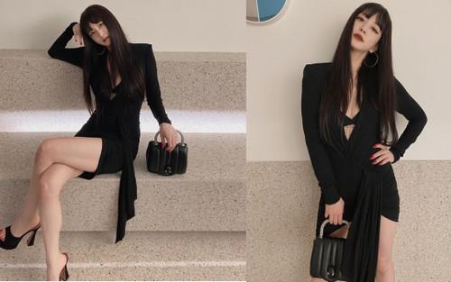 Mỹ nhân dao kéo Han Ye Seul diện váy đen xẻ sâu lộ nội y đầy quyến rũ