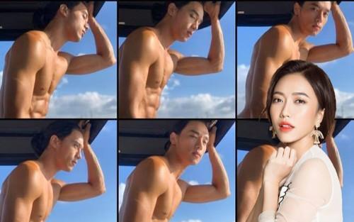 Diệu Nhi lục tung album ảnh để kiếm hình up MXH, nhưng chỉ toàn thấy hình 'múi' của trai đẹp Thuận Nguyễn
