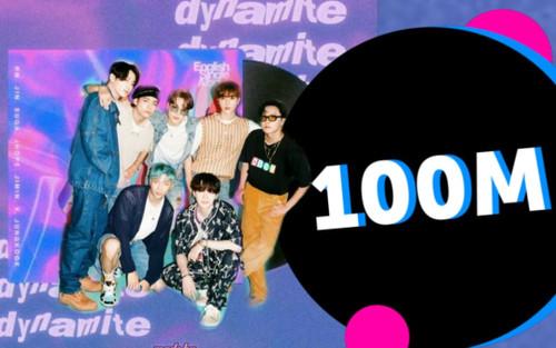 Dynamite (BTS) trở thành MV cán mốc 100 triệu lượt xem nhanh nhất lịch sử Youtube