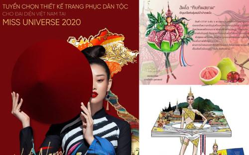 Fan Khánh Vân lo sốt vó trước mẫu trang phục dân tộc 'Bưởi 5 Roi' của Thái Lan ở Miss Universe 2020