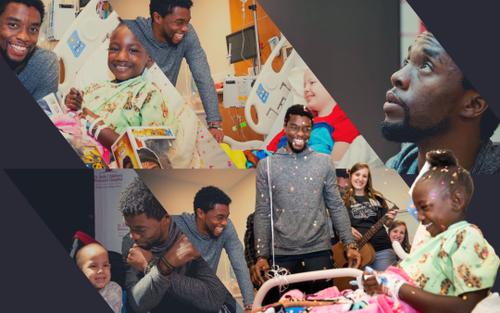 Chống chọi với ung thư, Chadwick Boseman vẫn mang lại nụ cười cho những đứa trẻ kém may mắn