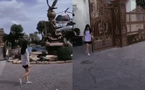 Cô gái xinh đẹp bước ra từ siêu biệt thự với trực thăng đậu sẵn trên nóc nhà gây choáng ngợp: Sự thật là gì?