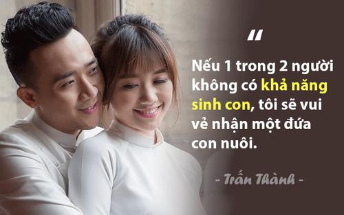 Trấn Thành bất ngờ tuyên bố: 'Nếu không có con, tôi vẫn yêu Hari Won' khiến nhiều người ngưỡng mộ