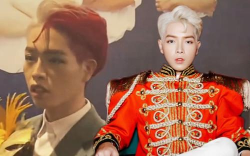 'Choáng' với tạo hình tóc nửa vàng nửa hồng của Đức Phúc trong họp báo ra mắt MV 'Người ơi người ở đừng về'