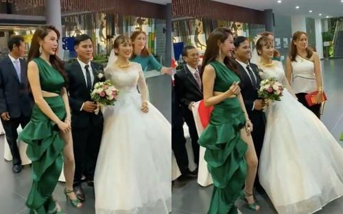 Là khách không mời, ăn diện lộng lẫy đến đám cưới nhưng Thủy Tiên lại được khen ngợi