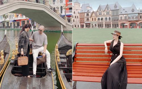 Anh trai Bảo Thy đăng loạt ảnh du lịch sang chảnh nhưng nhan sắc bà xã Trang Pilla mới chiếm 'spotlight'