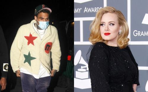 Bạn trai cũ từng hành hung Rihanna bị bắt gặp qua đêm tại nhà riêng của Adele ở London