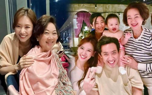Trấn Thành đăng ảnh gia đình nhưng Hari Won lại được khen giống hệt mẹ chồng