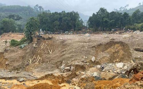 Lại thêm một vụ sạt lở núi ở Quảng Nam, 1 người mất tích, 1 người bị thương
