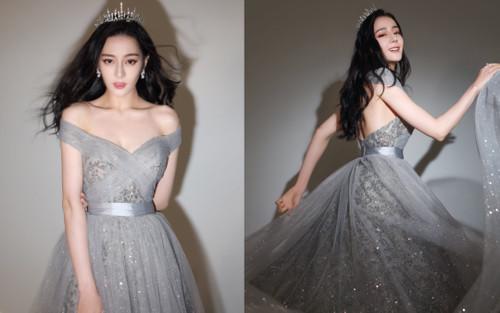 Địch Lệ Nhiệt Ba diện váy thanh thoát như công chúa đối lập Dương Mịch