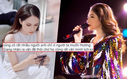 Hương Giang công nhận anti-fan văn minh giúp nghệ sĩ thức tỉnh, mong muốn chấm dứt tranh cãi