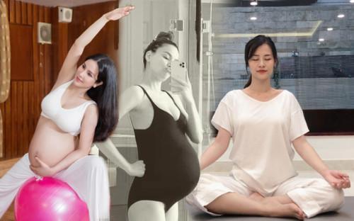 Hà Hồ và loạt sao Việt bầu bì vẫn vô cùng gợi cảm nhờ môn thể dục kinh điển