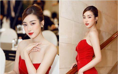 Giám khảo trẻ tuổi nhất lịch sử Hoa hậu Việt Nam - Đỗ Mỹ Linh đẹp nồng nàn với đầm đỏ xẻ đùi
