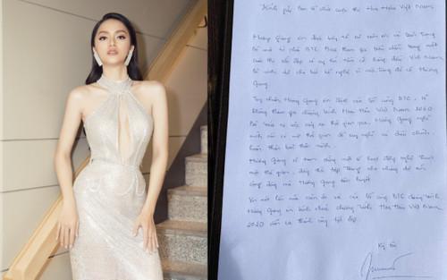 Từng tự hào khoe đạt 9,5 điểm, Hương Giang bị 'soi' lỗi văn phong lá thư xin rút khỏi HH Việt Nam 2020