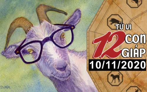 Tử vi thứ 3 ngày 10/11/2020 của 12 con giáp: Tý thiếu quyết đoán, Mùi được quý nhân giúp đỡ