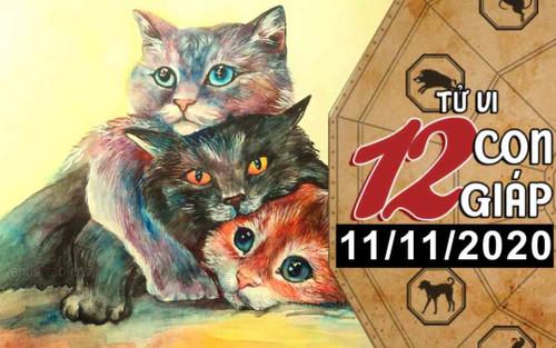 Tử vi thứ 4 ngày 11/11/2020 của 12 con giáp: Mão vượng vận đào hoa, Mùi cẩn thận bị 'cắm sừng'