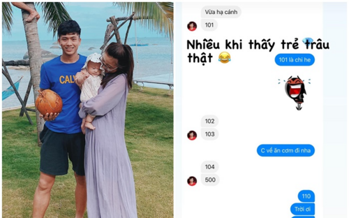 Bật cười với cách trò chuyện không ai hiểu của vợ chồng Phan Văn Đức