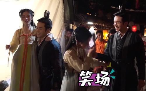 Trương Triết Hạn 1 tay nhấc bổng Cúc Tịnh Y, cover OST 'Hương mật' trong hậu trường 'Như ý phương phi'