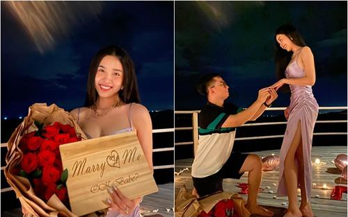 1 tuần trước ngày kết thúc nhiệm kỳ, Á hậu Việt Nam 2018 - Thúy An nhận lời cầu hôn của bạn trai