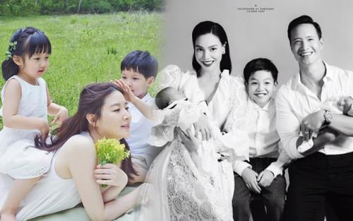 Lee Young Ae tung ảnh đẹp như tranh bên 2 con: Đã tìm ra điểm chung với Hồ Ngọc Hà!