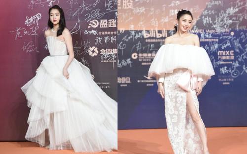 Quan Hiểu Đồng 'chặt chém' đàn chị mỹ nhân Tân Cương khi diện váy bung xòe