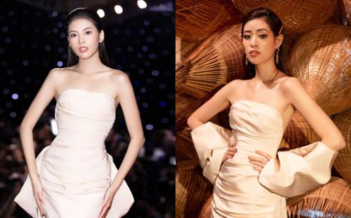 Đụng váy với hoa hậu Khánh Vân, á hậu Ngọc Thảo thua toàn tập vì cách tạo dáng mờ nhạt