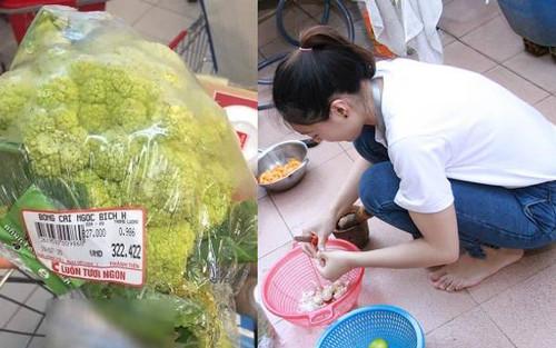 Bạn cùng phòng hào hứng đi chợ mua rau, nữ sinh ăn xong thì 'đứng hình' khi phát hiện ra giá cả thực sự