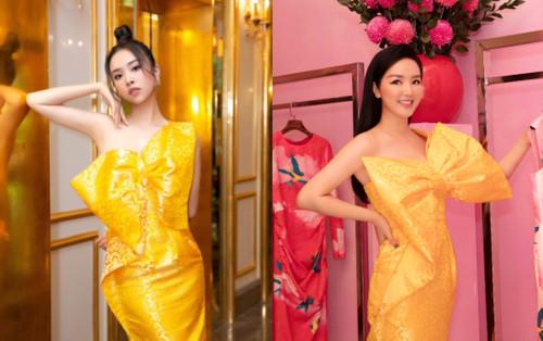 Á hậu Thúy An, Hoa hậu giáng My trót say lòng cùng mẫu váy nơ khổng lồ, ai mặc đẹp hơn ai?