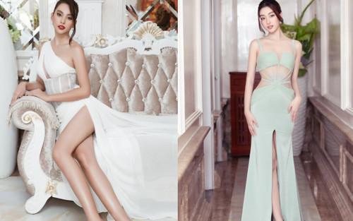 Hoa hậu Tiểu Vy chả thua chị kém em với váy cắt xẻ đến tận hông