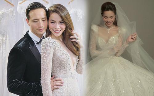 Váy cưới của Hồ Ngọc Hà tinh xảo từng đường nét, giá bán khiến ai cũng ngã ngửa