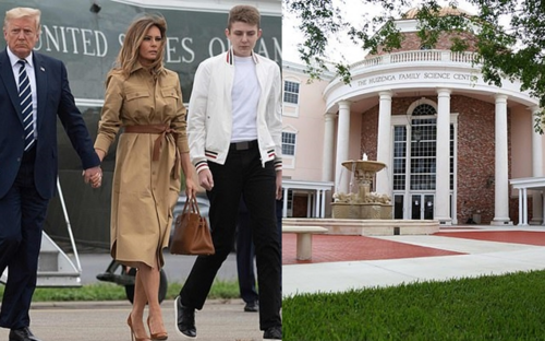 Bà Melania 'nhắm' ngôi trường có học phí 35.000 USD cho con trai Barron