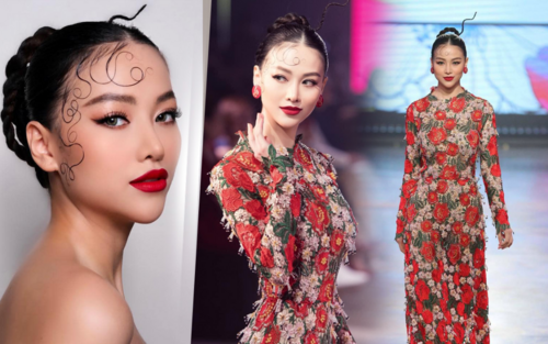 Phương Khánh tái xuất sàn runway, hóa 'Đào nương' diễn Vedette thần thái 'sắc lẹm'