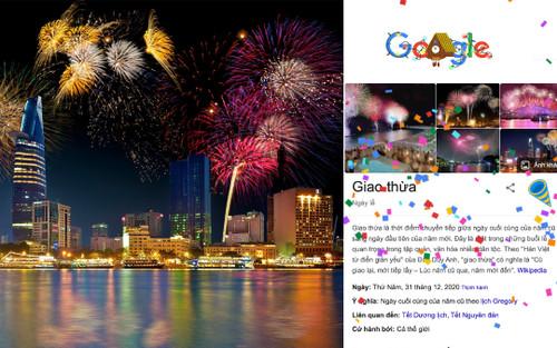 Google mừng Giao Thừa 2021 trên trang chủ với hiệu ứng thổi kèn, tung pháo giấy