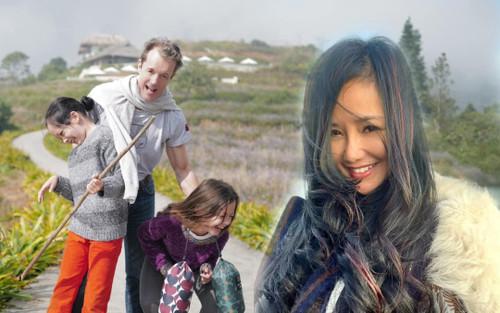 Hồng Nhung thoải mái đăng ảnh gần gũi của bạn trai mới bên hai con song sinh