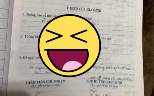 Lời 'bóc phốt' con trai của phụ huynh trong sổ liên lạc gửi giáo viên khiến dân mạng cười ngất