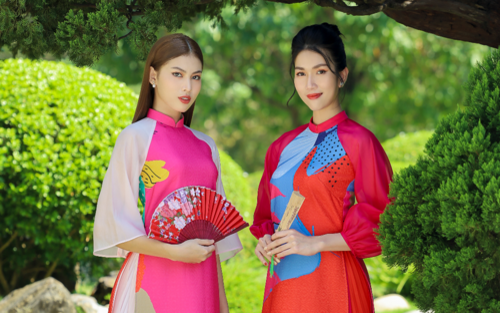 Á hậu Ngọc Thảo, Á hậu Phương Anh diện áo dài Tết mong manh, gợi ý loạt màu sắc xu hướng