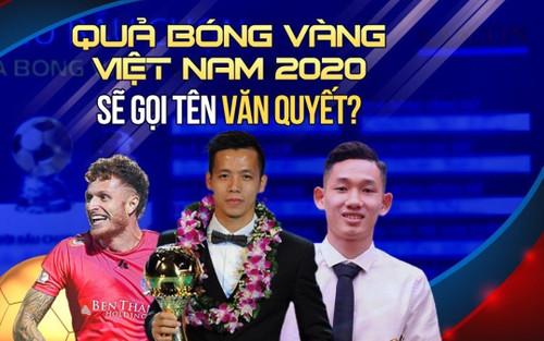 Xem trực tiếp lễ trao giải Quả bóng vàng Việt Nam 2020