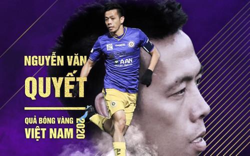 Văn Quyết giành Quả bóng vàng Việt Nam 2020: Cuối cùng hạnh phúc cũng mỉm cười với Quyết 'rừng'