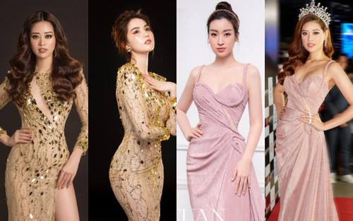 Tổng kết 2020: Hàng loạt vụ đụng váy áo 'kỷ lục' của các nàng hậu Việt khiến fan xốn xang