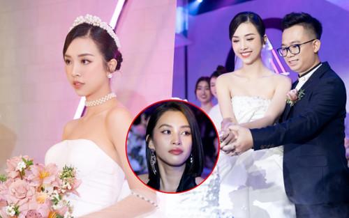Á hậu Thúy An thay 5 bộ váy cưới lộng lẫy như công chúa, Tiểu Vy rơi nước mắt: 'Chú rể may mắn lắm'