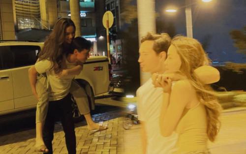 Lịm tim trước loạt khoảnh khắc đầy tình cảm của Hà Hồ và Kim Lý khi 'trốn' cặp song sinh đi chơi riêng