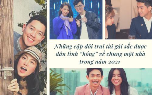 Những cặp đôi trai tài gái sắc được dân tình 'hóng' về chung một nhà trong năm 2021